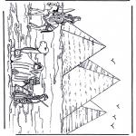 Coloriages faits divers - Pyramides en Egypte
