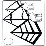 Coloriages faits divers - Pyramides