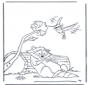 Raton laveur et colibri