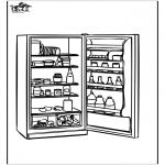 Coloriages faits divers - Réfrigérateur