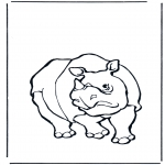 Coloriages d'animaux - Rhinocéros