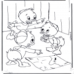 Personnages de bande dessinée - Riri Fifi et Loulou 1