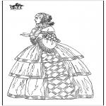 Coloriages faits divers - Robe classique