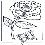 Coloriages faits divers - Rose