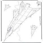 Coloriages faits divers - Saab J 35 F Draken