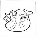 Coloriages pour enfants - Sac à dos et carte