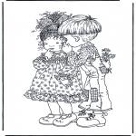 Coloriage thème - Saint-Valentin 1