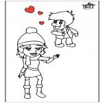 Coloriage thème - Saint-Valentin 13