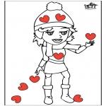 Coloriage thème - Saint-Valentin 14