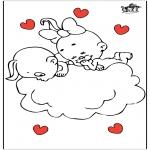 Coloriage thème - Saint-Valentin 21