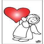 Coloriage thème - Saint-Valentin 9