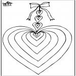 Coloriage thème - Saint-Valentin - cœur