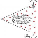 Coloriage thème - Saint-Valentin - drapeau 2