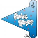 Coloriage thème - Saint-Valentin - drapeau 3
