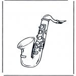 Coloriages faits divers - Saxophone