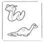 Serpent et dinosaure