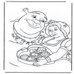 Personnages de bande dessinée - Shrek 2