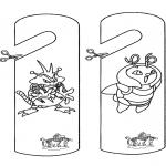 Bricolage coloriages - Signet de porte Pokémon