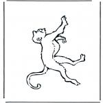 Coloriages d'animaux - Singe 1