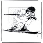 Coloriages faits divers - Ski 1
