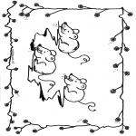 Coloriages d'animaux - Souris 1