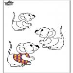 Coloriages d'animaux - Souris 2
