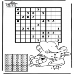Bricolage coloriages - Sudoku - Avion