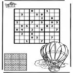 Bricolage coloriages - Sudoku - ballon