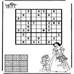 Bricolage coloriages - Sudoku - Blanche-Neige