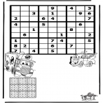 Bricolage coloriages - Sudoku Cars