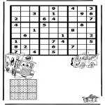 Bricolage coloriages - Sudoku Cars