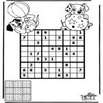 Bricolage coloriages - Sudoku - Dalmatien