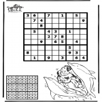 Bricolage coloriages - Sudoku - Dauphin
