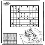 Bricolage coloriages - Sudoku - Dauphin