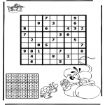 Bricolage coloriages - Sudoku - Diddl 2