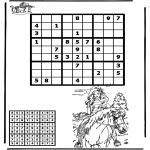 Bricolage coloriages - Sudoku - équitation