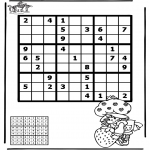 Bricolage coloriages - Sudoku - fille