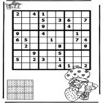 Bricolage coloriages - Sudoku - fille