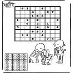 Bricolage coloriages - Sudoku - Jip et Janneke