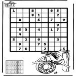 Bricolage coloriages - Sudoku - Oiseau