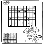 Bricolage coloriages - Sudoku - pirate