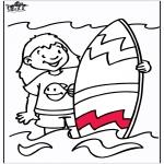 Coloriages faits divers - Surf