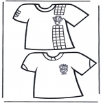 Coloriages faits divers - T-shirts de  foot 1