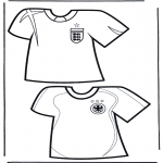 Coloriages faits divers - T-shirts de  foot 2
