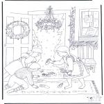 Coloriages Noël - Tableau de Noël