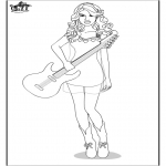 Coloriages faits divers - Taylor Swift