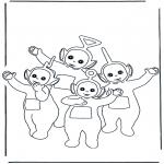 Coloriages pour enfants - Télétubbies