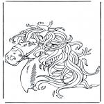 Coloriages d'animaux - Tête de cheval 1