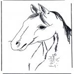 Coloriages d'animaux - Tête de cheval 3