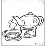 Coloriages faits divers - Thé et tasses